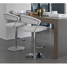 Connubia Calligaris New York Bar Stool Skuba Faux Leather