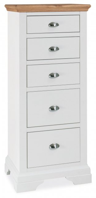 Bentley Designs Hampstead Two Tone 5 Drawer Tall Chest