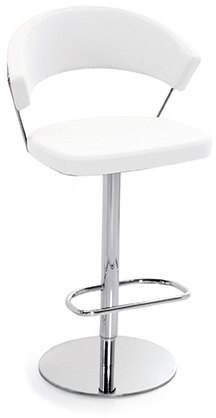Connubia Calligaris New York Bar Stool Swivel Base Leather