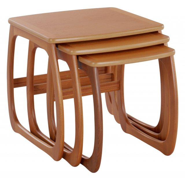 Nathan 5634 Classic Teak Burlington Nest Of 3 Tables