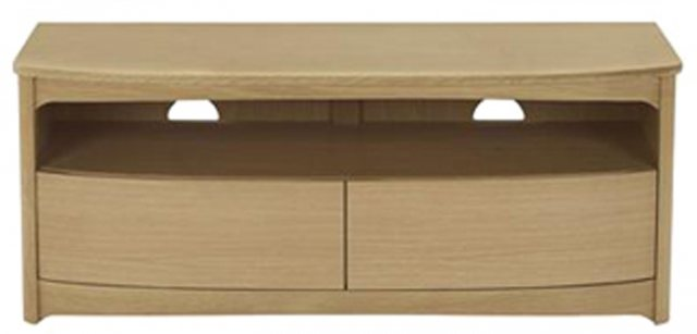 Nathan 5935 Shades Oak Shaped TV Unit with Drawers