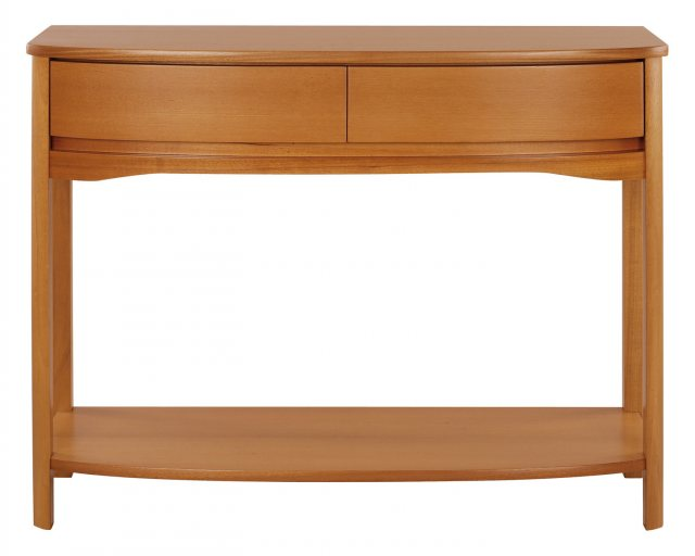 Nathan 5854 Shades Teak Shaped Console Table