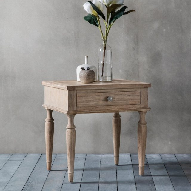Gallery Direct & Frank Hudson Frank Hudson Mustique 1 Drawer Side Table