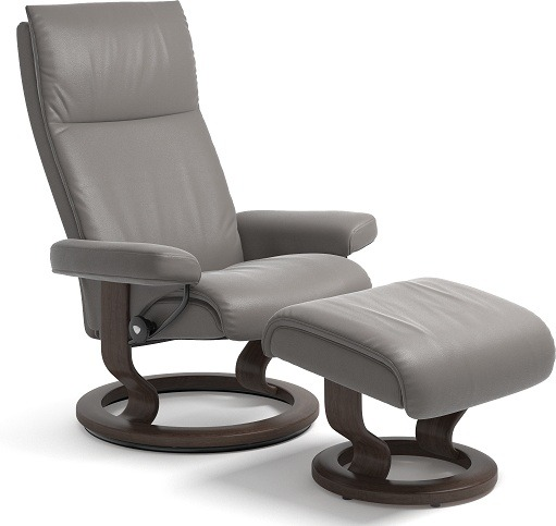 Fantastic Stressless Aura Small Chair And Stool With Classic Base Dailytribune Chair Design For Home Dailytribuneorg