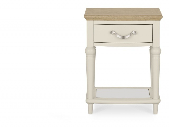 Bentley Designs Montreux Pale Oak & Antique White Lamp Table With Drawer