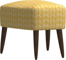 Fama Fama Kylian Footstool With Wooden Base
