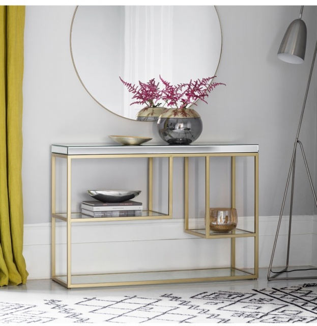 Gallery Direct & Frank Hudson Gallery Pippard Console Table Champagne