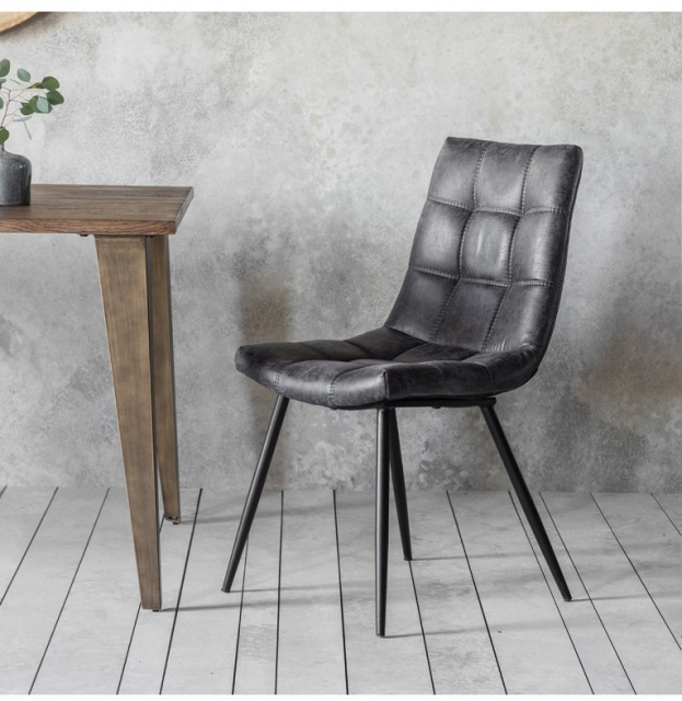 Gallery Direct & Frank Hudson Frank Hudson Darwin Grey Chair (Pair)
