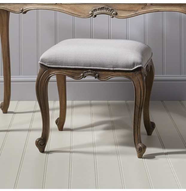 Gallery Direct & Frank Hudson Frank Hudson Chic Dressing Stool Weathered
