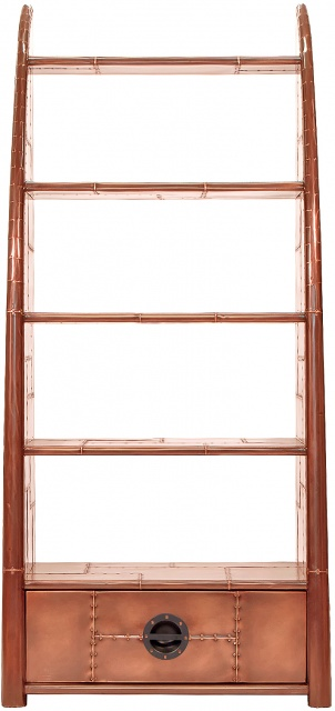 Carlton Furniture Aviator Wing Bookcase - Copper