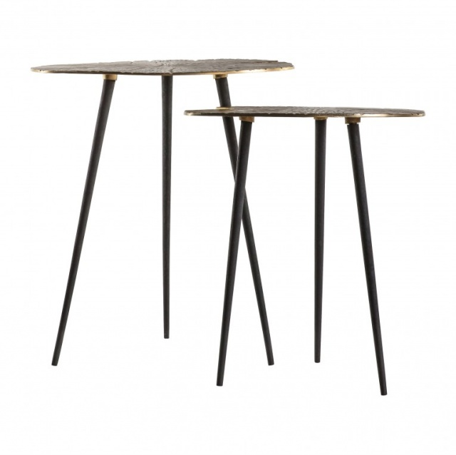Gallery Direct & Frank Hudson Gallery Valence Nest of 2 Tables Gold