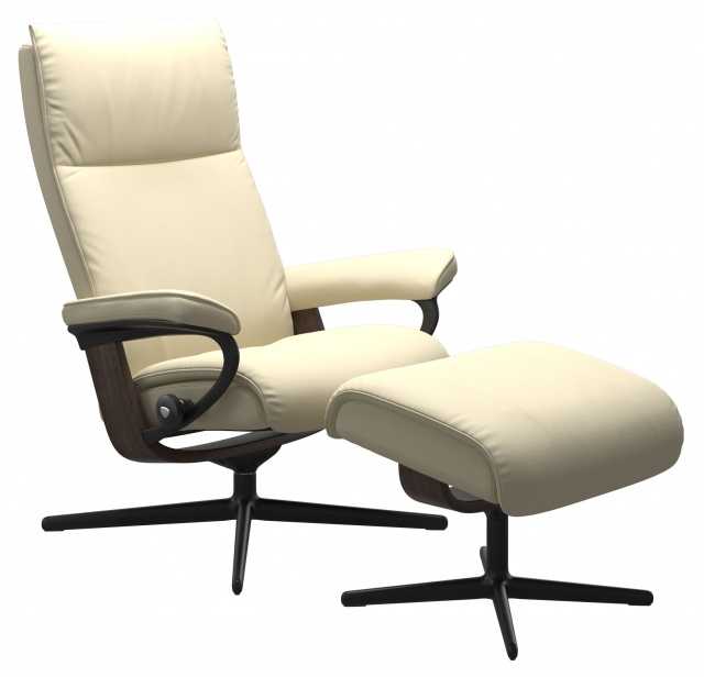 Stressless Aura Chair & Stool Signature Base
