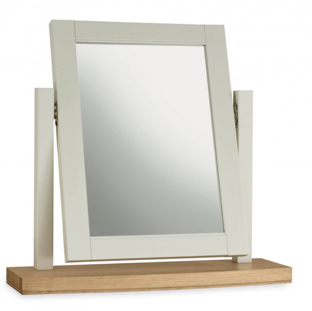Bentley Designs Hampstead Soft Grey & Pale Oak Vanity Mirror