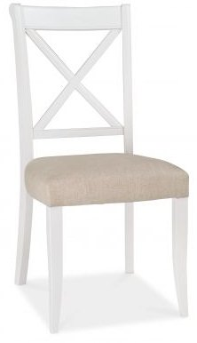 Bentley Designs Hampstead Two Tone X Back Chair -Sand Fabric (Pair)