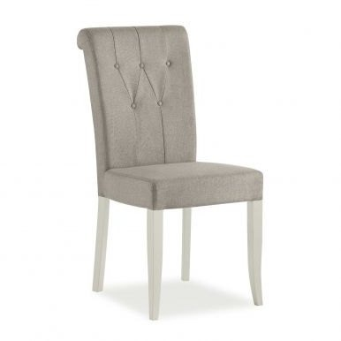 Bentley Designs Hampstead Soft Grey Upholstered Chair - Pebble Grey Fabric (Pair)