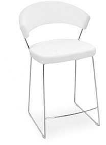 Connubia Calligaris New York Bar Stool Sleigh Base Leather