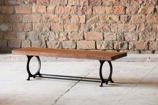 Little Tree Furniture Hyatt Canning Industrial Dining Bench
