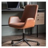 Gallery Direct & Frank Hudson Gallery Faraday Swivel Chair Brown
